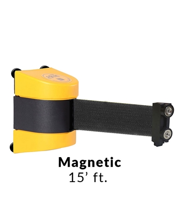 Magnetic Retractable Wall Mounted Barrier 15 Ft