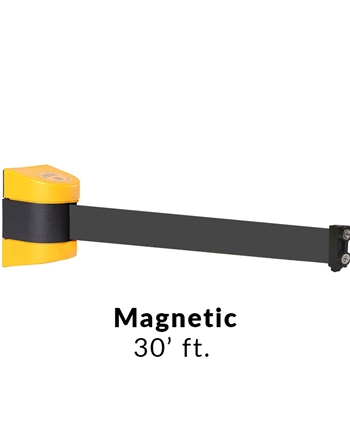 Magnetic Retractable Wall Mounted Barrier 30' ft.