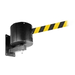 "Extra Long 55'-75' ft. Retractable Belt Barrier, Wall Mounted, ""WallPro 750"""