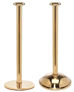 Museum Rope Stanchion, Polished Brass