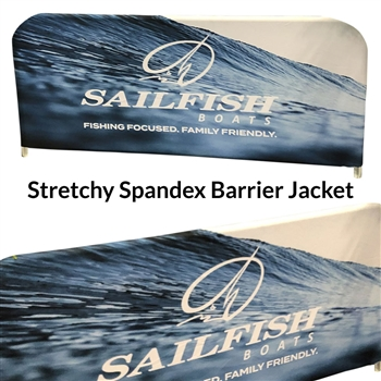 Barricade Covers & Barrier Jackets, Stretchy Spandex 6-8' ft. (Digitally Printed)