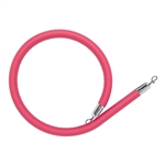 Pink Leather-like Stanchion Rope