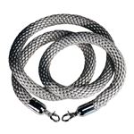 "Museum Stanchion Rope, Grey Elegant Braided Rope, 1"" diam. (717)"