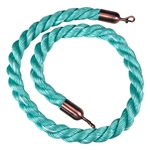 """Q-Boss"" Crowd Control Stanchion Rope 1.5"" Diam. Mint-Green (#902)"