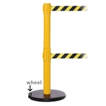RollerSafety 250 Twin - double 11' ft. belt barrier.