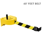 Tensabarrier 970XL with 60' ft. NightView Reflective Yellow/Black Belt