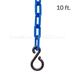 "Chainboss BLUE Plastic Safety 2"" Chain UV Resistant - 10ft bag with S-hooks (Multi-Pack)"