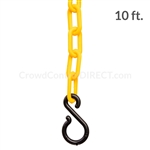"Chainboss YELLOW Plastic Safety 2"" Chain UV Resistant - 10ft bag with S-hooks (Multi-Pack)"