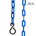 "Chainboss BLUE Plastic Safety 2"" Chain UV Resistant - 25ft bag with S-hooks (Multi-Pack)"