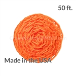 "Chainboss ORANGE Plastic Safety 2"" Chain UV Resistant - 50ft box"