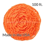 "Chainboss ORANGE Plastic Safety 2"" Chain UV Resistant - 100ft box"