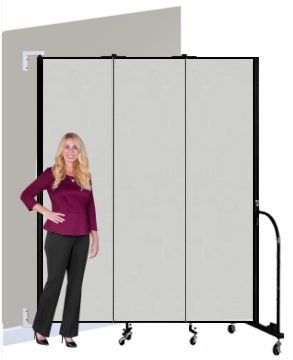 Screenflex WALLMOUNT Portable Room Divider - Vinyl