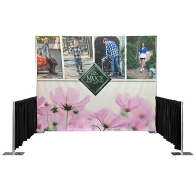 Pipe and Drape Banner; full back wall fabric banner