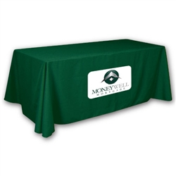 OpenBack (3-Sided) Trade Show Table Throw: Simple Applique