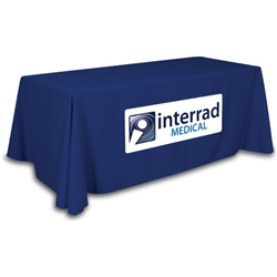 ClosedBack (4-Sided) Trade Show Table Drape: Simple Applique
