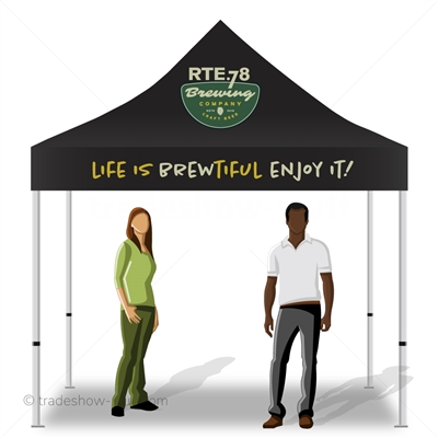 Deluxe 10x10 Logo Tent; incredible 10x10 tent with logo, incredibly affordable.