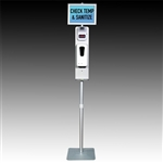 Hands-free Temperature and Hand Sanitizing Stand