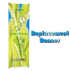 Eco-friendly Bamboo X Stand Replacement Banner