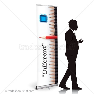 24in Budget Retractable Banner Stand