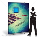 60in Budget Retractable Banner Stand