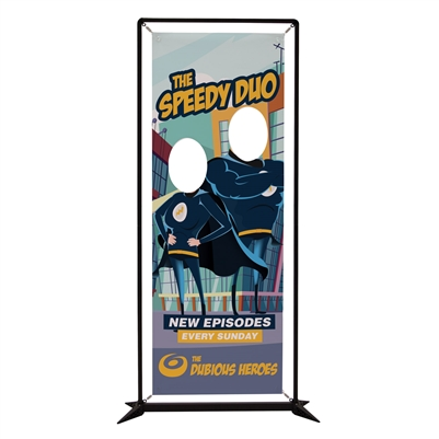 FrameWorx Double Face Cut Out Banner Display