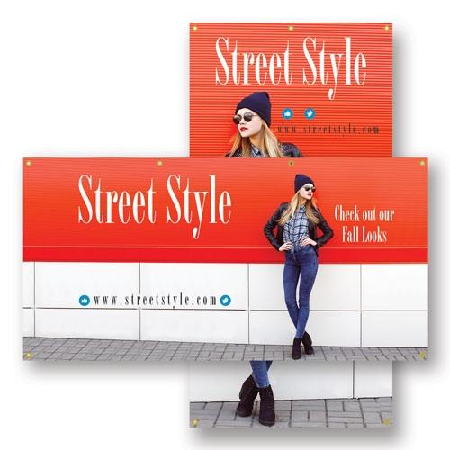 Premium Smooth Vinyl Hanging Banners | Custom Printed