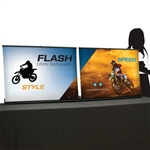 Impact 6.6 Retractable Table Back Wall Display