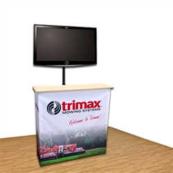 Impact Fabric Counter and TV Stand Kiosk