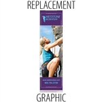 "Replacement Sabre24"" Retractable Banner"
