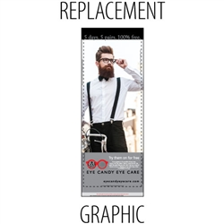 "Replacement Sabre32"" Retractable Banner"