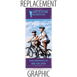 "Replacement Sabre36"" Retractable Banner"