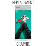 "Replacement Sabre40"" Retractable Banner"