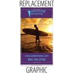 "Replacement Sabre48"" Retractable Banner"