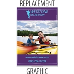 "Replacement Sabre60"" Retractable Banner"