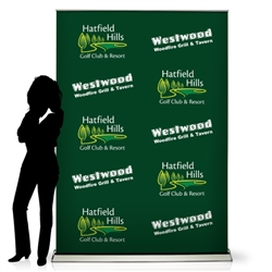 Step and Repeat Retractable Banner Display