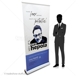 White Ice 36 Designer Retractable Banner