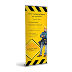 Retractable Banner Display w/ Professional Design - Const1