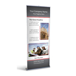 Retractable Banner Display w/ Professional Design - Const2