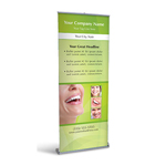 Retractable Banner Display w/ Professional Design - Dent2