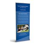 Retractable Banner Display w/ Professional Design - Edu1