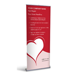 Retractable Banner Display w/ Professional Design - MedCardio1