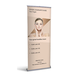 Retractable Banner Display w/ Professional Design - MedDermo1