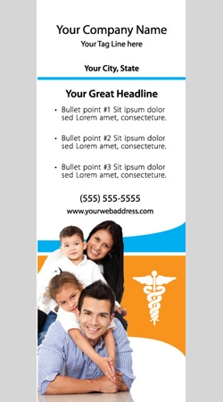 Retractable Banner Display w/ Professional Design - MedFam1
