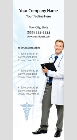 Retractable Banner Display w/ Professional Design - MedGen1