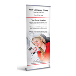 Retractable Banner Display w/ Professional Design - MedOpt2