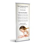Retractable Banner Display w/ Professional Design - MedPed1