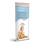 Retractable Banner Display w/ Professional Design - MedPed2