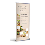 Retractable Banner Display w/ Professional Design - Spa1