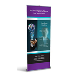 Retractable Banner Display w/ Professional Design - Tech1