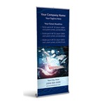 Retractable Banner Display w/ Professional Design - Tech2